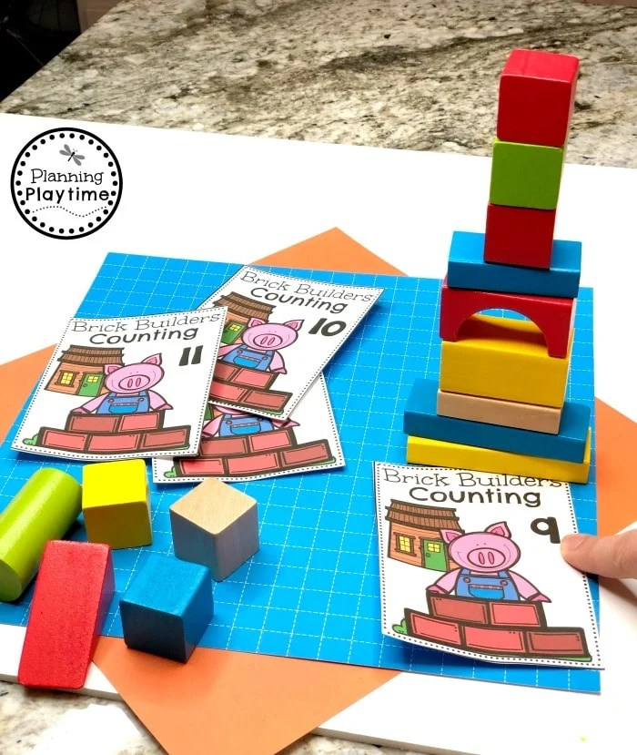 Preschool Math Games - Construction Theme#constructiontheme #preschool #preschoolworksheets #planningplaytime