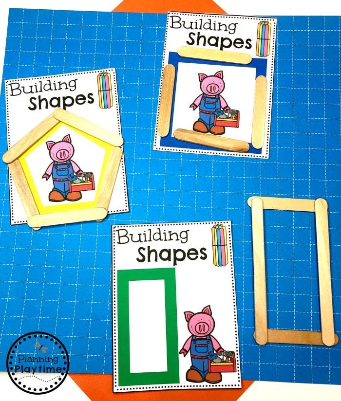 Preschool Shapes Activity - Construction Theme #constructiontheme #preschool #preschoolworksheets #planningplaytime