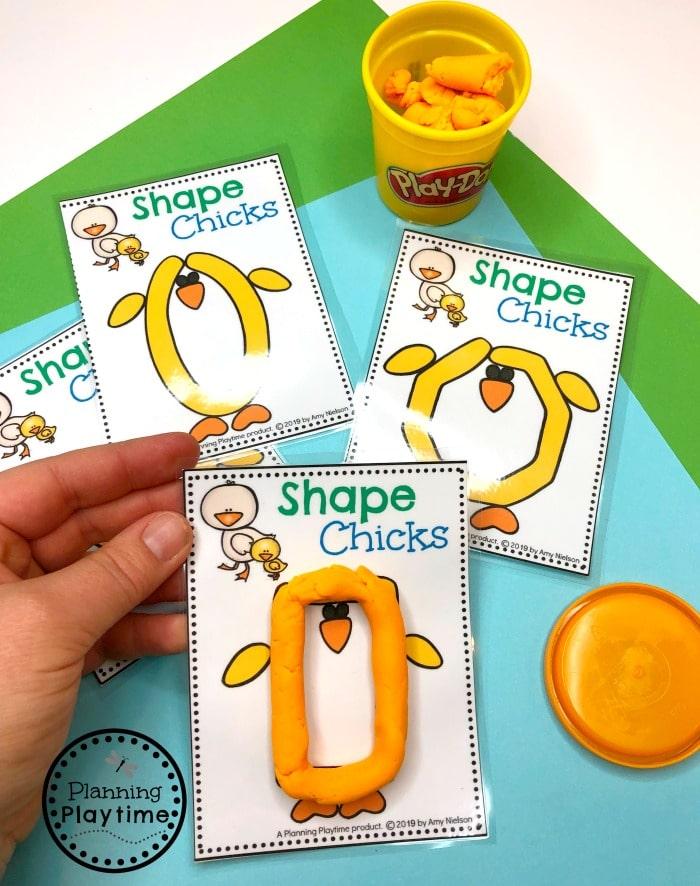 Preschool Shapes Game for Spring