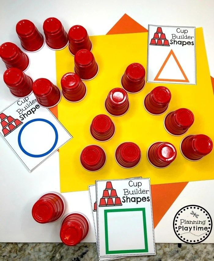 Shapes Activity for Preschool - Construction Theme #shapes #constructiontheme #preschool #preschoolworksheets #planningplaytime