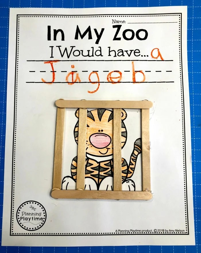Zoo Craft for Preschool #zootheme #preschool #preschoolworksheets #planningplaytime