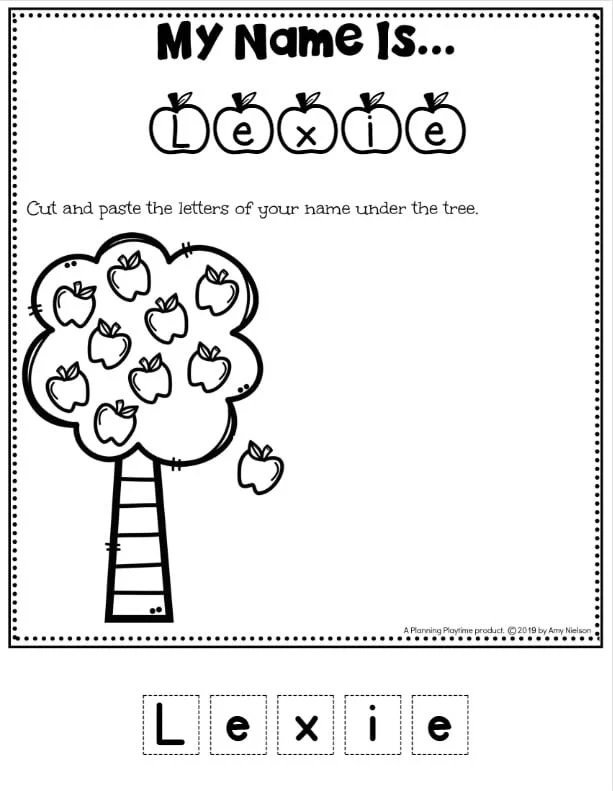 Cute Name Worksheets for Preschool - Easy and Fast Editable Name Tracing Worksheets Set #preschoolworksheets #nameworksheets #preschoolprintables #nametracing #backtoschool #planningplaytime