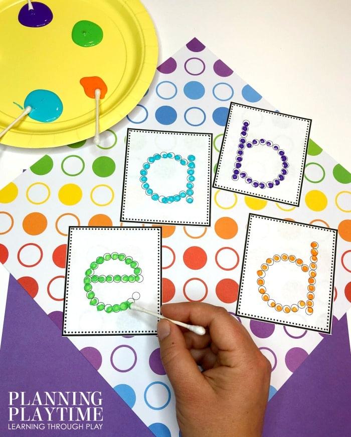 Letter Recognition Activities for preschool and kindergarten #lettertracing #letterworksheets #alphabetworksheets #preschoolworksheets #preschoolactivities #alphabetactivities #planningplaytime