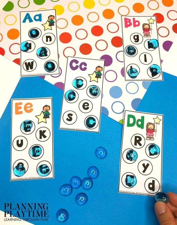 Preschool Letter Recognition Games - Letter Find Cards #lettertracing #letterworksheets #alphabetworksheets #preschoolworksheets #preschoolactivities #alphabetactivities #planningplaytime