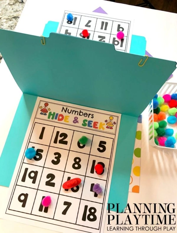 Math Games for Preschool - Letter Recognition Game Hide and Seek Boats