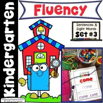 Reading Fluency Sentences, Reading Activities for Kindergarten