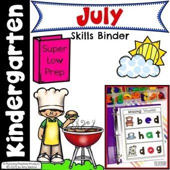 July Kinder Binder Cover