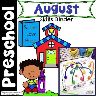 August Preschool Activities Binder