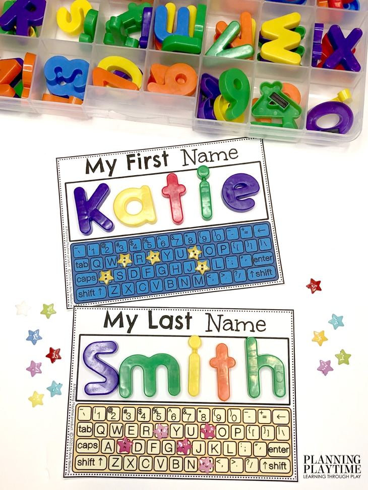 Preschool Activities - Name Spelling