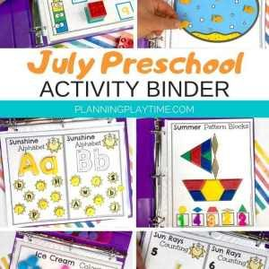 Summer Preschool Activities Binder