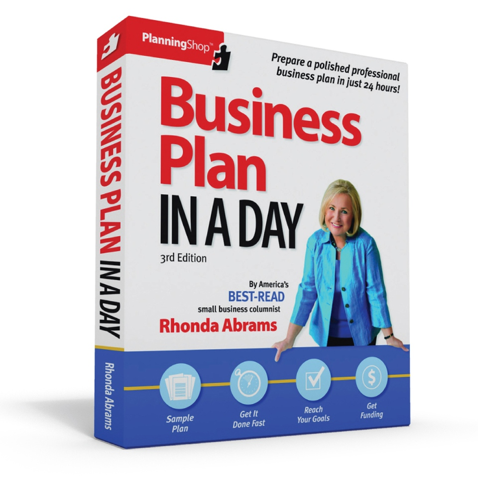Business Plan In A Day, 3rd Edition $21.95