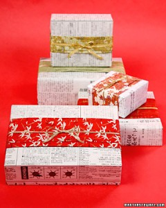 Christmas Newspaper Wrapping