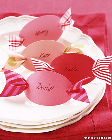 Peppermint Candy Theme Place Card Holders