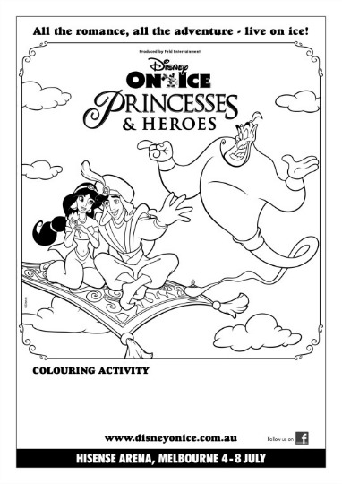 Disney On Ice presents Princesses & Heroes Free Printables