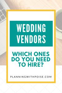 List of Wedding Vendors Needed