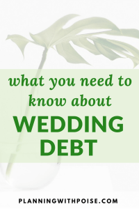 Wedding Debt