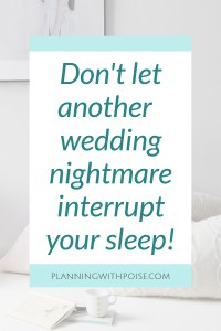 De-Stress and Sleep Before Your Big Wedding Day