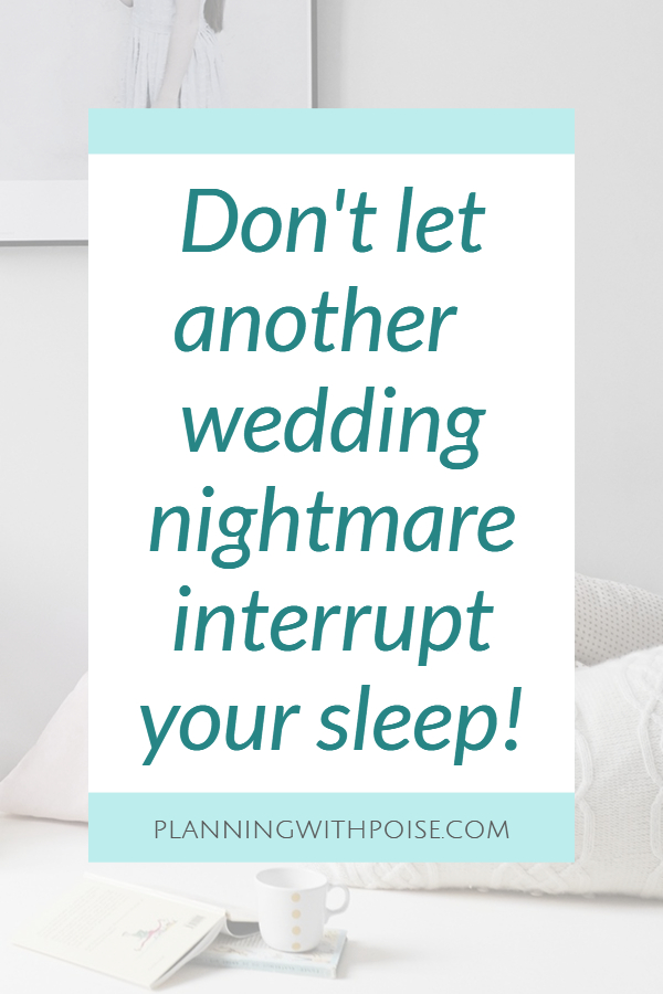 how to increase sleep and reduce sleep before your wedding day | planningwithpoise.com