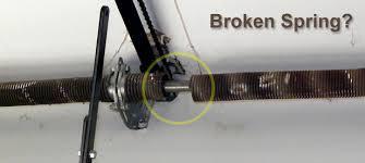 broken garage door spring cost