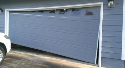 Repairing a broken garage door