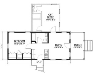 plano americanas casas planos casa tipo bano comedor dormitorios ubica espacio reducido este algo completo cocina dos living