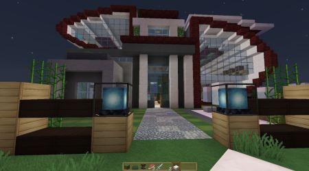Modelos de casas modernas para minecraft