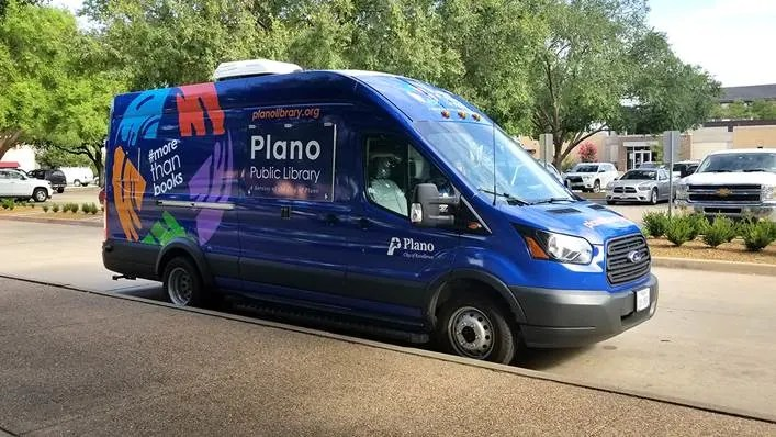 Plano Library Outreach vehicle