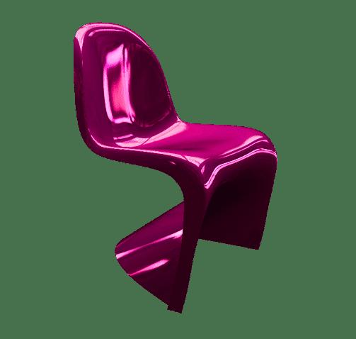 Rocket 3F - Panton Chair - Chaise - Polygonal
