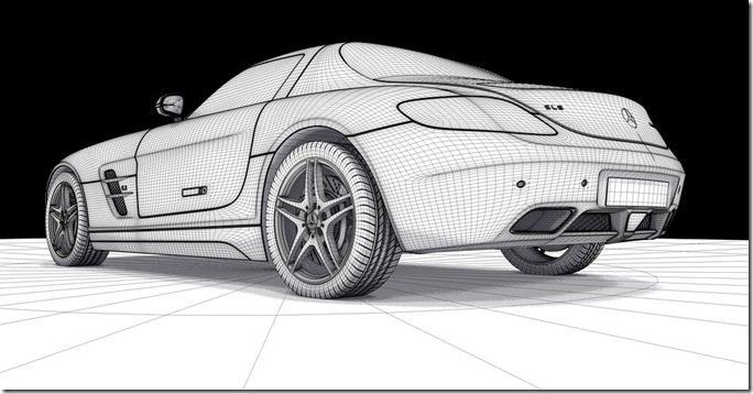 Amg, Mercedes, Sls, modele CAO maillage - Pixabay
