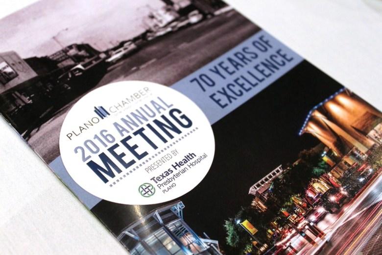 Plano chamber commerce 70 years meeting texas