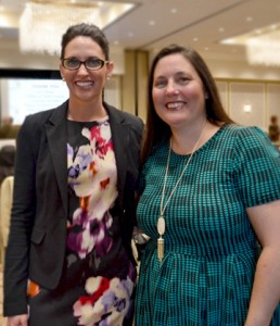Hilary Jackson, Capital One, and April Tate, JLCC Board of Directors