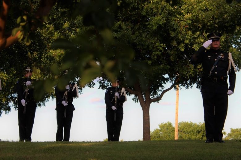 Memorial Day Plano Sunset at Memorial Park Summer ceremony honoring fallen soldiers 21 gun salute