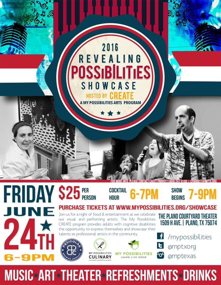 My Possibilities Showcase Plano Courtyard Theatre nonprofit