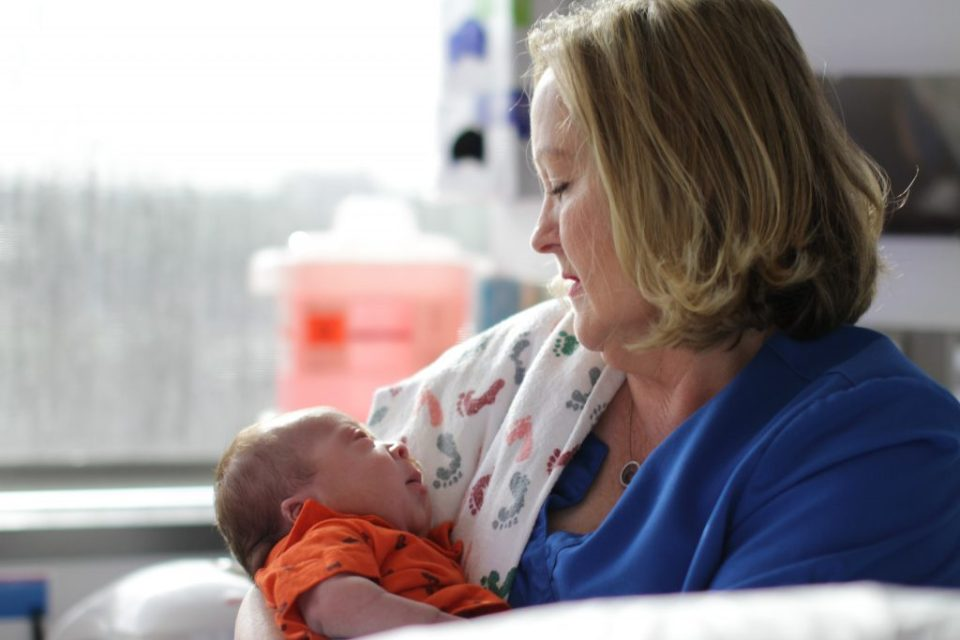Texas Health Plano nurse Betty Harper cares for a baby in the hospital's Neonatal Intensive Care Unit, which was designated Level IV – the state's highest rating