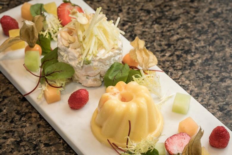Avner's new and improved version of the Mandarin Orange Souffle Salad. Mariposa at Neiman Marcus Willow Bend, Plano, Avner Samuel