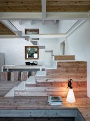 Diseño de pequeña casa de campo exteriores en piedra con