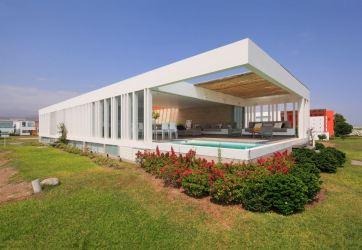 Diseño de moderna casa de playa Planos de Arquitectura