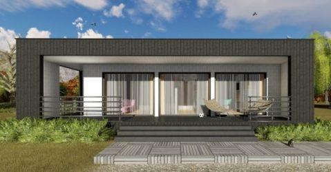 Casa Moderna Pequeña de Un Dormitorio Planos de Casas 3D