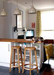 barra madera desayunadora katie cocina barras desayunadoras bar before after modernas kitchen open pino living counter