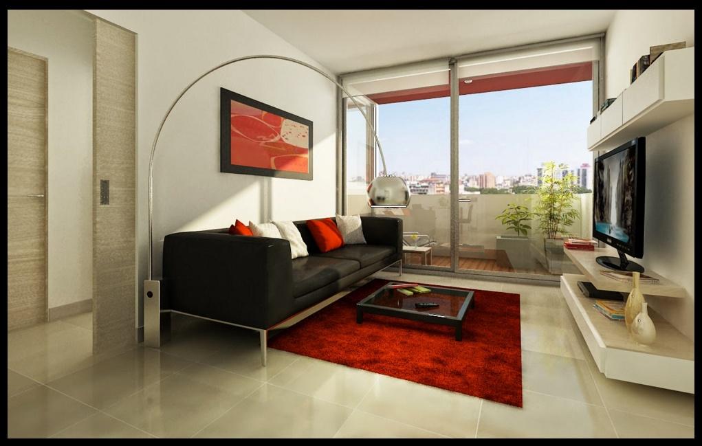 departamento de un dormitorio  Planos de casas modernas