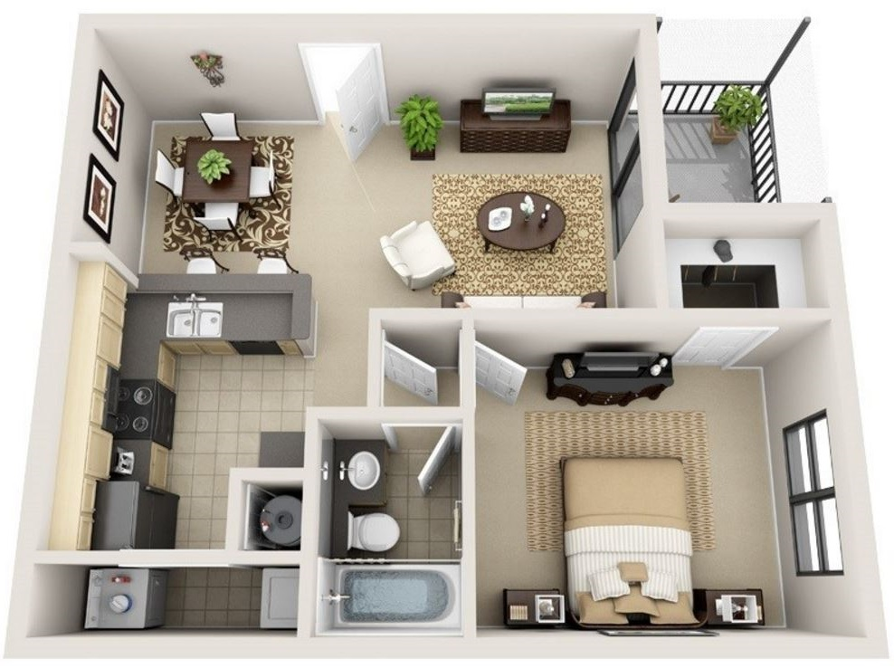 planos de casas pequenas bien distribuidas