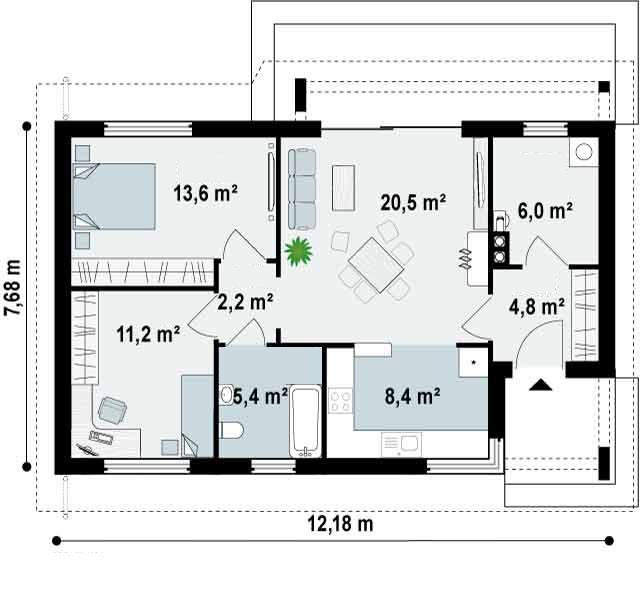 Planos y fachadas de casas chicas