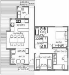 planos para casa con 7m de frente x 12 de largo