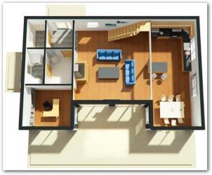 Planos de casas en 3D modernas