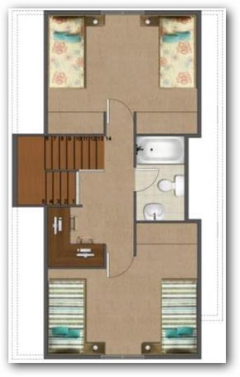 casa de dos plantas de 50 metros ideas
