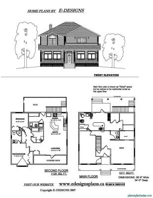 Planos de casas pequeñas de dos pisos (5)