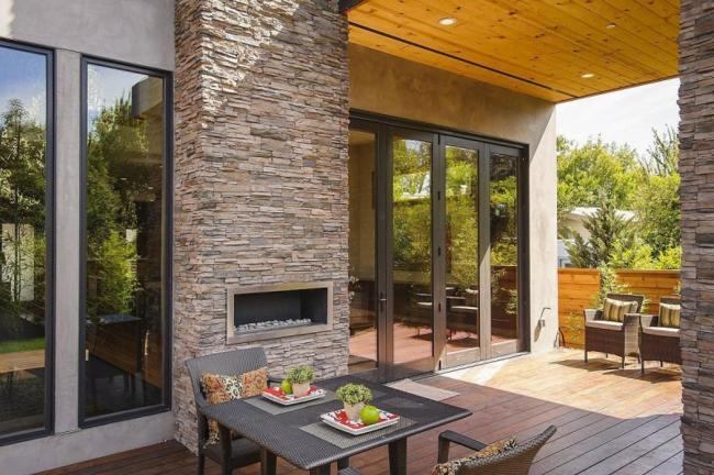16 fachadas de casas con piedras planos y fachadas for Fachadas de piedra