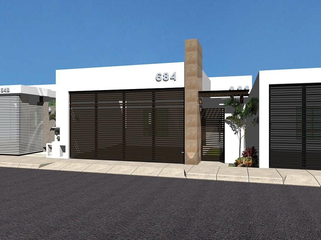 12 fachadas de casas minimalistas planos y fachadas - Casa minimalista una planta ...