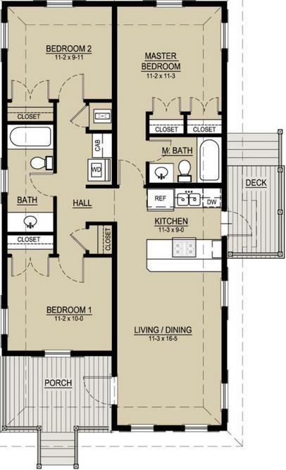 19 planos de casas 3 dormitorios planos y fachadas for Casa minimalista 3 dormitorios