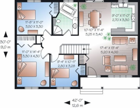 planos de casas 3 dormitorios6